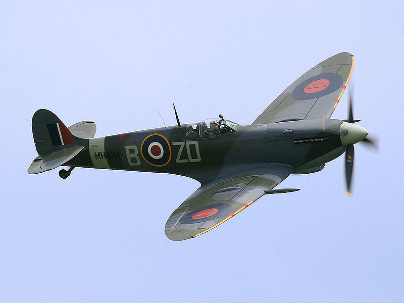 Un supermarine spitfire, avion britannique de la royal air force