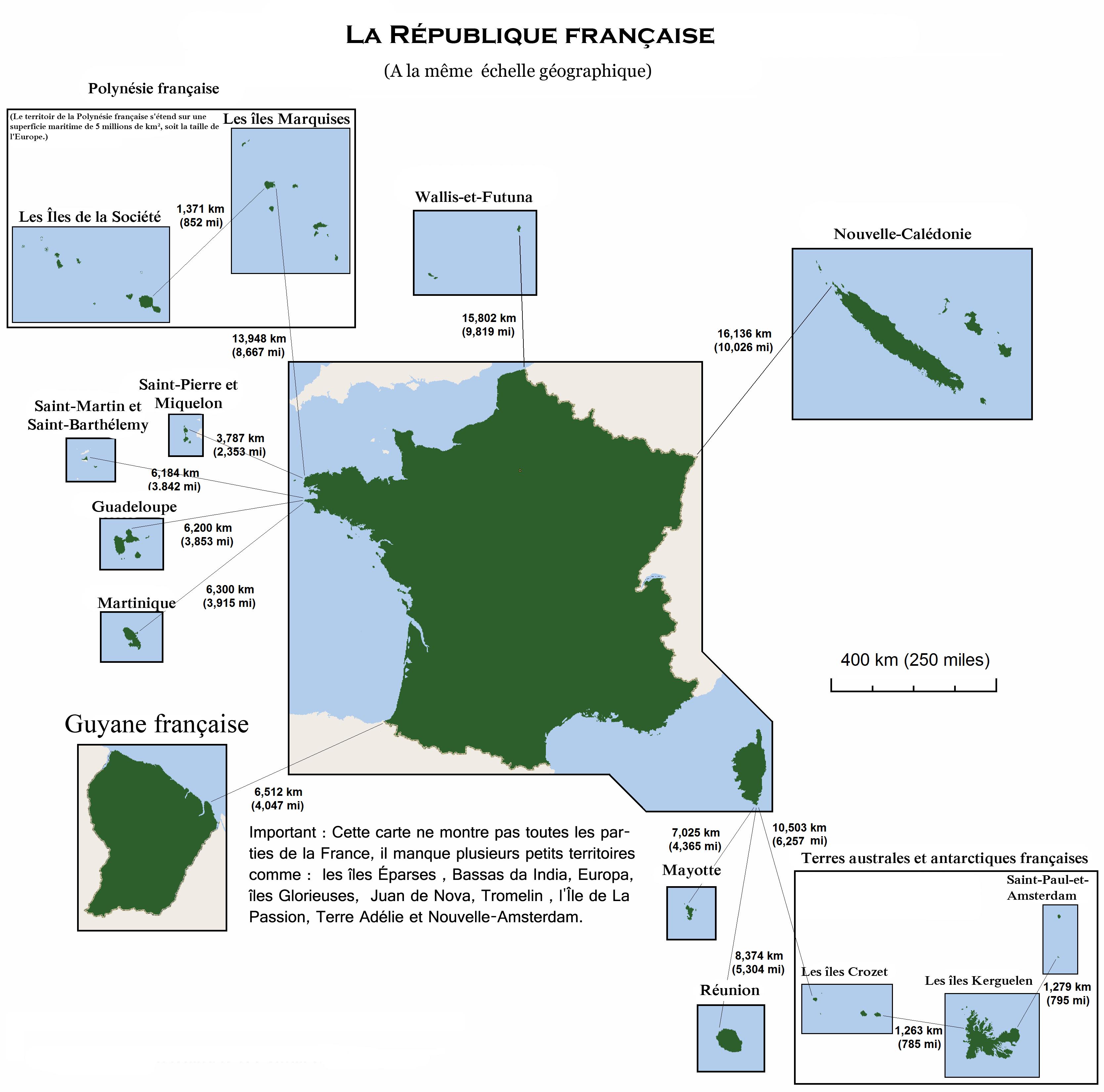 Carte France Outre Mer France D'outre-mer «