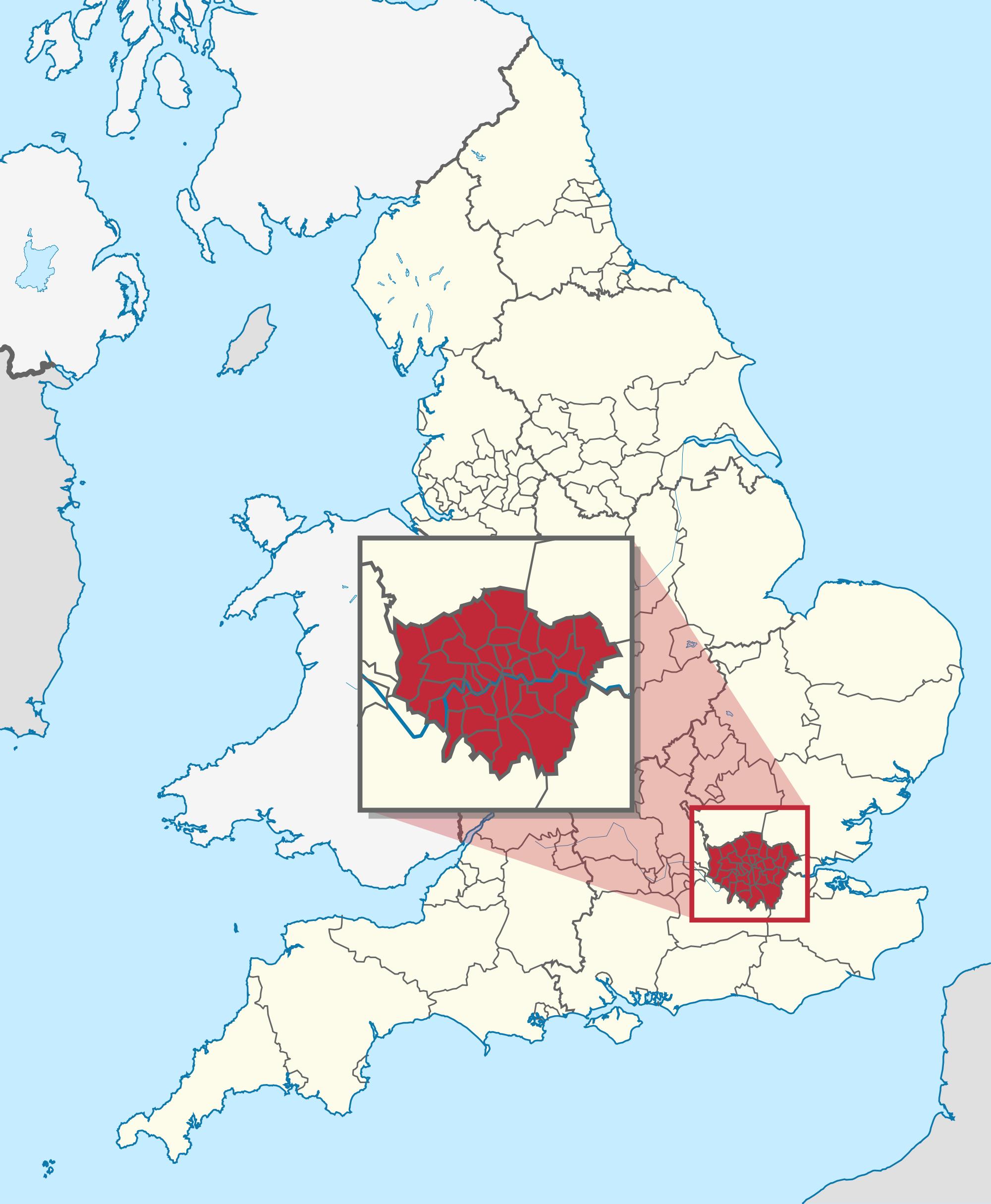 Carte Angleterre Londres Carte