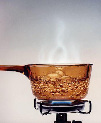 Boil Water In Glass Coffee Pot In Mocrowave