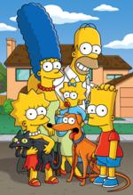 Les Simpson au complet.