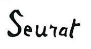 Autographe de Georges Seurat