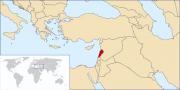 Localisation du Liban