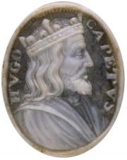 Hugues Capet sur un médaillon du XVIIe siècle