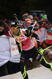 2014-01-04 Biathlon World Cup Oberhof - Mens Pursuit - 3 - Martin Fourcade.JPG
