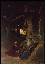 «Merlin et Viviane», par Gustave Doré (vers 1860).
