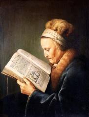 Fichier:Gérard Dou-Portrait d'une vieille femme lisant-Lecture.jpg