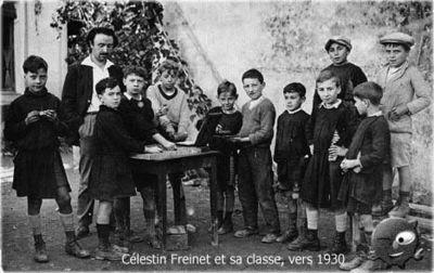 Freinet med sin klass, omkring 1930