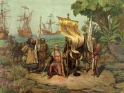 Christophe Colomb, à son arrivée en Amérique