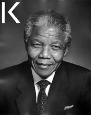 Nelson Mandela en 1990