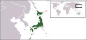 Localisation du Japon