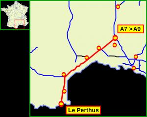 Fichier:Tracé autoroute française A9.png