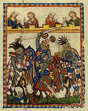 Tournoi à l'épée-Enluminure du Codex Manesse.jpg