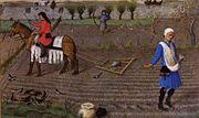 Au Moyen Âge, la plus grande partie de la population vit à la campagne.