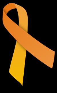 Le ruban orange représentant la malnutrition