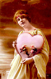 Carte de la Saint-Valentin, vers 1910.