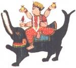 Peinture représentant Ganga