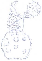 Calligramme de Guillaume Apollinaire jean de la lune