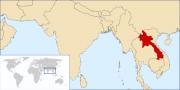 Localisation du Laos (en rouge)