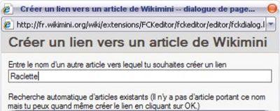 Création d'un lien hypertexte vers un article de Wikimini